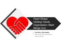 Heart Shape Holding Hands Organisation Meet Merge Icon