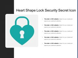 Heart Shape Lock Security Secret Icon