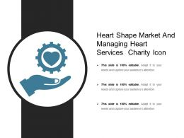 Heart Shape Market And Managing Heart Services Charity Icon