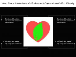 Heart Shape Nature Lover Or Environment Concern Icon Or Eco Friendly
