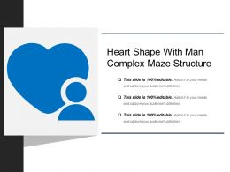 Heart Shape With Man Complex Maze Structure