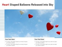 Heart Shaped Balloons Released Into Sky
