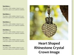 Heart Shaped Rhinestone Crystal Crown Image