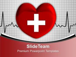 Heart With Cross Sign Medical Powerpoint Templates Ppt Backgrounds For Slides 0113