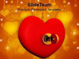 Heart With Key Wedding PowerPoint Templates PPT Themes And Graphics 0213
