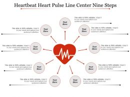 Heartbeat Heart Pulse Line Center Nine Steps