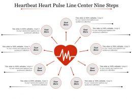 Heartbeat Heart Pulse Line Center Nine Steps