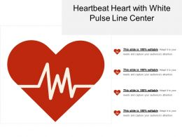 Heartbeat Heart With White Pulse Line Center
