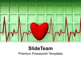 Heartbeat With Heart Medical Health Powerpoint Templates PPT Themes And Graphics 0213