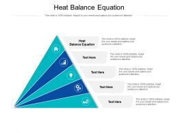 Heat Balance Equation Ppt Powerpoint Presentation Professional Graphics Example Cpb