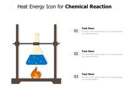 Heat Energy Icon For Chemical Reaction