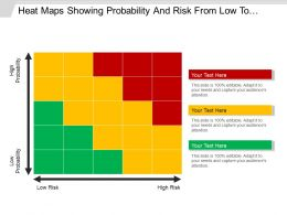 Heat Maps Showing Probability And Risk From Low To High 5x5 Powerpoint Templates