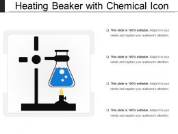 Heating Beaker With Chemical Icon