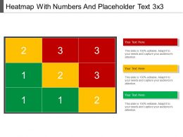 heatmap_with_numbers_and_placeholder_text_3_x_3_powerpoint_images_Slide01