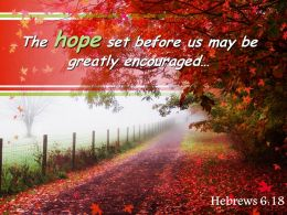 Hebrews 6 18 The Hope Set Before Us May Powerpoint Church Sermon