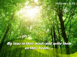 Hebrews 8 10 My Laws In Their Minds Powerpoint Church Sermon