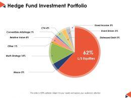 Hedge Fund Investment Portfolio Ppt Powerpoint Presentation File Deck