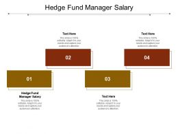 Hedge Fund Manager Salary Ppt Powerpoint Presentation Slides Slideshow Cpb