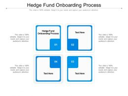 Hedge Fund Onboarding Process Ppt Powerpoint Presentation Summary Visual Aids Cpb