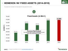 Heineken Nv Fixed Assets 2014-2018