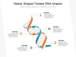 Helical Shaped Twisted DNA Graphic