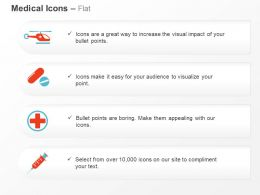 Helicopter Medicine Red Cross Syringe Ppt Icons Graphics