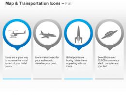 Helicopter Plane Rocket Ufo Ppt Icons Graphics