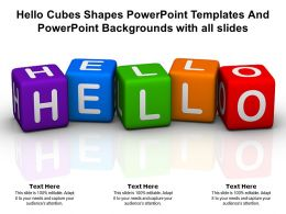 Hello Cubes Shapes Templates Backgrounds With All Slides Ppt Powerpoint