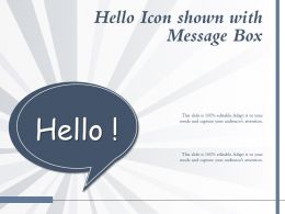 Hello Icon Shown With Message Box