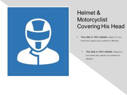 Helmet And Motorcyclist Covering His Head