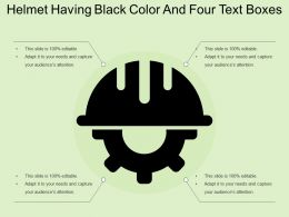 Helmet Having Black Color And Four Text Boxes