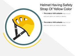 Helmet Having Safety Strap Of Yellow Color