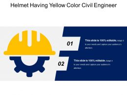 Helmet Having Yellow Color Civil Engineer