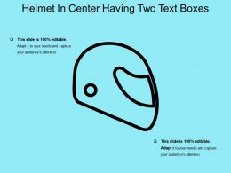 Helmet In Center Having Two Text Boxes