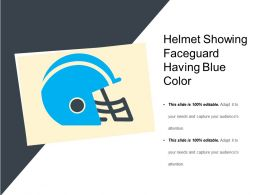 Helmet Showing Faceguard Having Blue Color