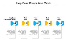 Help Desk Comparison Matrix Ppt Powerpoint Presentation Infographic Template Slide Portrait Cpb
