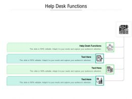 Help Desk Functions Ppt Powerpoint Presentation Inspiration Clipart Cpb