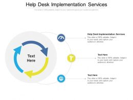 Help Desk Implementation Services Ppt Powerpoint Presentation Infographics Cpb