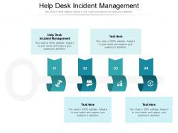 Help Desk Incident Management Ppt Powerpoint Presentation Summary Gallery Cpb