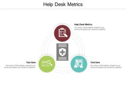 Help Desk Metrics Ppt Powerpoint Presentation Slides Skills Cpb