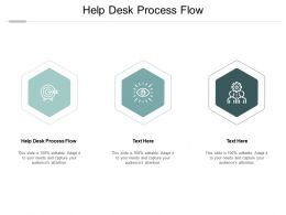 Help Desk Process Flow Ppt Powerpoint Presentation Styles Visuals Cpb