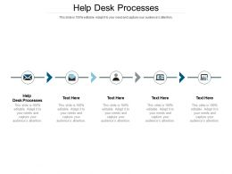 Help Desk Processes Ppt Powerpoint Presentation Gallery Diagrams Cpb
