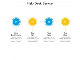 Help Desk Service Ppt Powerpoint Presentation Summary Influencers Cpb