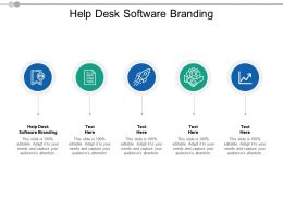 Help Desk Software Branding Ppt Powerpoint Presentation Slides Example File Cpb