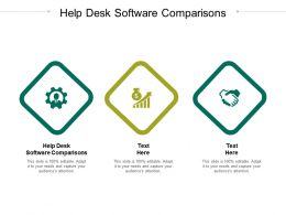 Help Desk Software Comparisons Ppt Powerpoint Presentation File Background Cpb