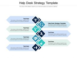 Help Desk Strategy Template Ppt Powerpoint Presentation Outline Smartart Cpb