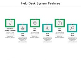 Help Desk System Features Ppt Powerpoint Presentation File Mockup Cpb