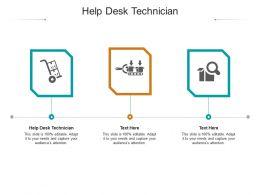 Help Desk Technician Ppt Powerpoint Presentation Introduction Cpb