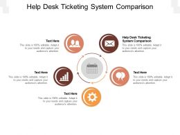 Help Desk Ticketing System Comparison Ppt Powerpoint Presentation Summary Inspiration Cpb