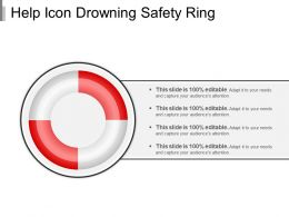 Help Icon Drowning Safety Ring